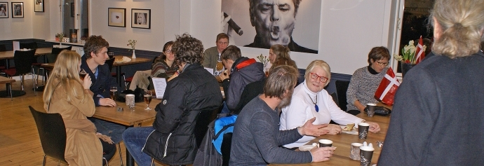 Fra reception for Filmlandet i Vig Bios cafe 15. december